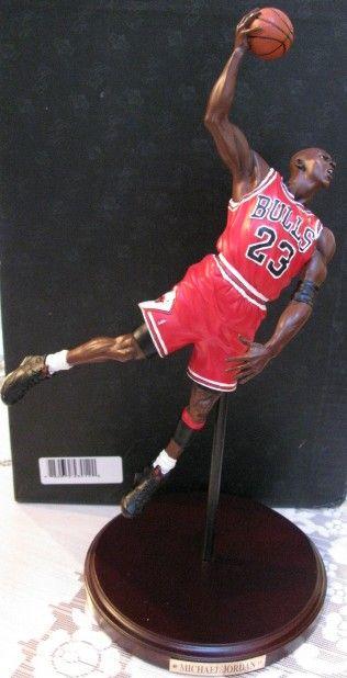 Lot Detail - MICHAEL JORDAN 1990-91 NBA CHAMPIONSHIP BASKETBALL STATUE UPPER DECK