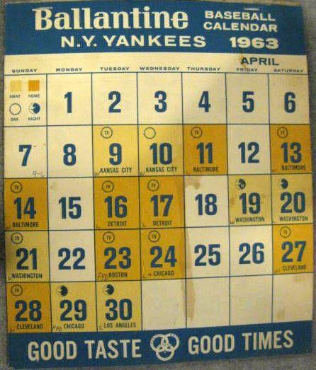 Calendar New York April : Lot detail new york yankees quot ballantine beer