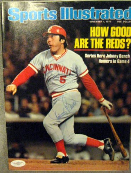 Lot Detail Johnny Bench Signed Sports Illustrated W Jsa Coa