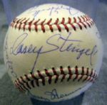 VINTAGE 1963 NEW YORK METS SIGNED BASEBALL w/JSA COA