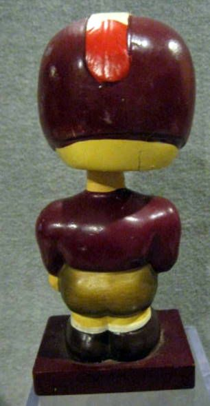 60's WASHINGTON REDSKINS  WOOD BASE BOBBING HEAD