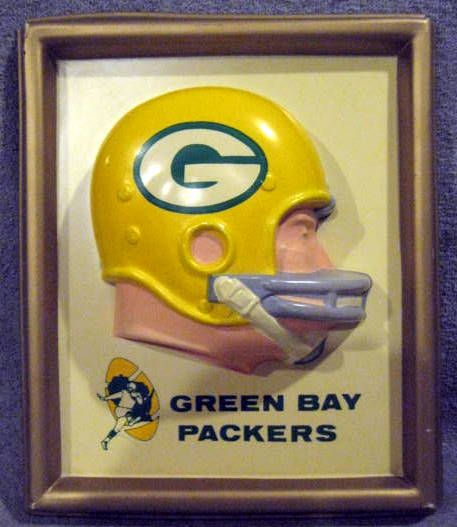 60'S GREEN BAY PACKERS TECHNIGRAPH HELMET PLAQUE