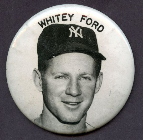 VINTAGE WHITEY FORD YANKEES PIN Button 3.5
