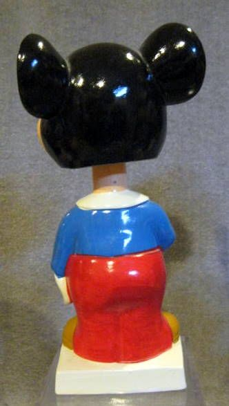 VINTAGE 60's LOT OF 4 DISNEY CHARACTER WHITE  BASE BOBBING HEADS