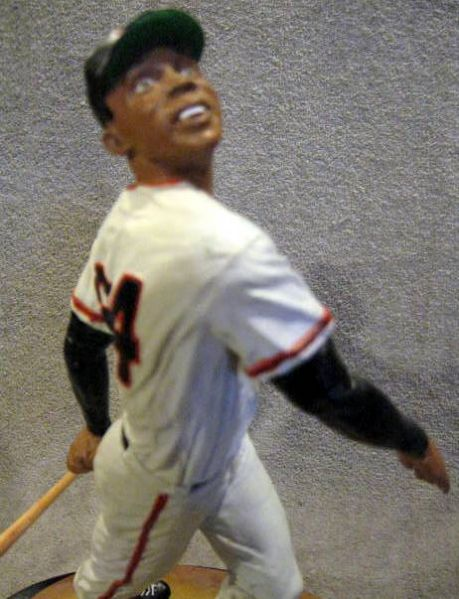 WILLIE MAYS SIGNED SALVINO STATUE w/JSA COA