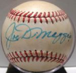 JOE DIMAGGIO SIGNED BASEBALL w/JSA LOA