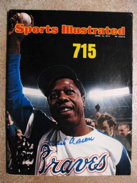 Lot Detail HANK AARON SIGNED 715 HR SPORTS ILLUSTRATED