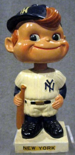 60's NEW YORK YANKEES WHITE BASE BOBBING HEAD