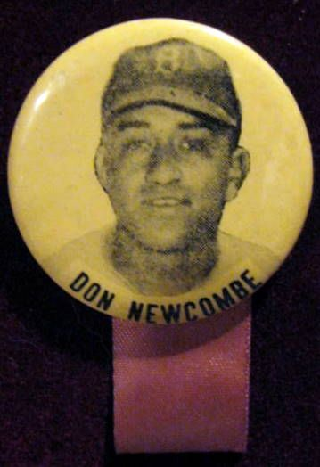 50's DON NEWCOMBE PINBACK w/RIBBON