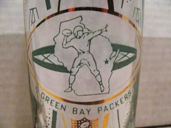 60's GREEN BAY PACKERS HEDY TALL GLASS