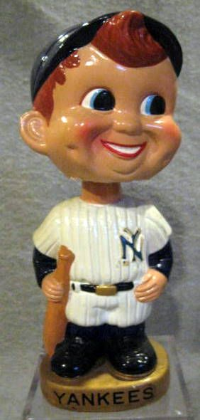 60's NEW YORK YANKEES GOLD BASE BOBBING HEAD
