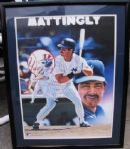 DON MATTINGLY SIGNED 1988 SPORTS IMPRESSIONS FRAMED POSTER