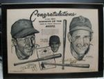 TED WILLIAMS AND STAN MUSIAL SIGNED 1958 SPORTING NEWS- BATTING CHAMPS