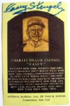 "CASEY STENGEL DUAL SIGNED ""HALL OF FAME"" POST CARD"
