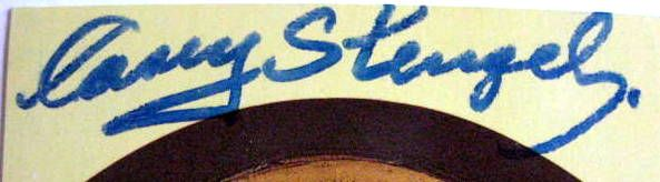 CASEY STENGEL DUAL SIGNED HALL OF FAME POST CARD