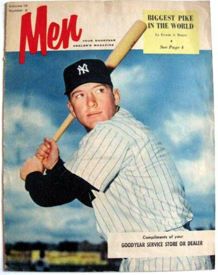 VINTAGE MICKEY MANTLE MEN MAGAZINE