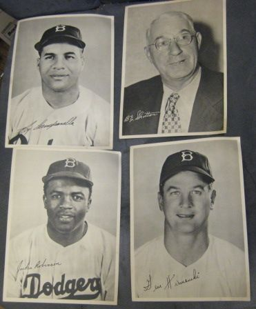 40's BROOKLYN DODGERS PHOTO PACK - w/CAMPANELLA & ROBINSON