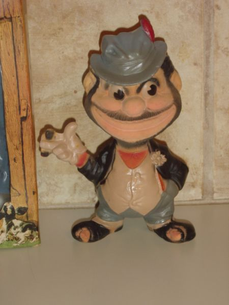 1940s REMPEL BROOKLYN DODGERS BASEBALL MASCOT BUM HO-JO THE BO SQUEAK TOY-MIB!!!