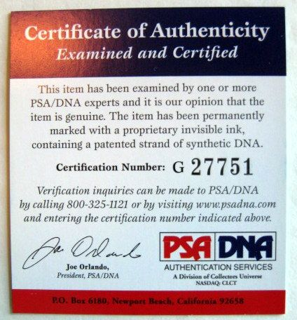 STAN MUSIAL SIGNED 'PEREZ STEELE POST CARD w/PSA DNA COA