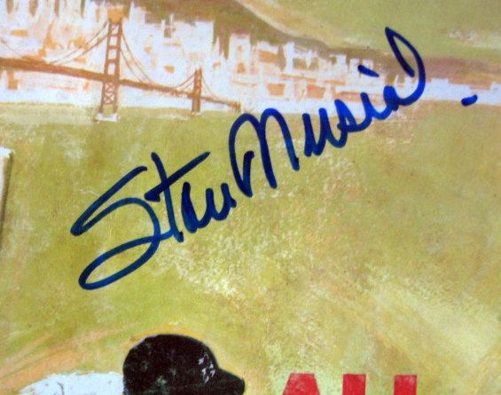 1961 ALL-STAR GAME PROGRAM SIGNED BY STAN MUSIAL w/COA