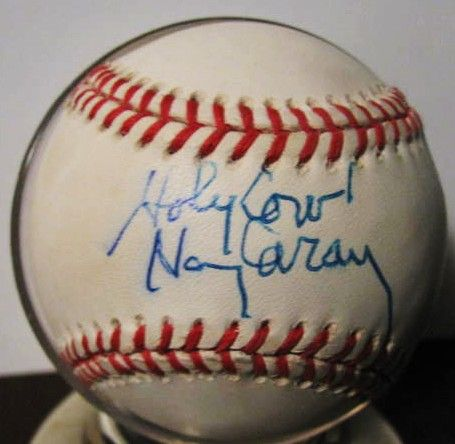 HARRY CARAY HOLY COW SIGNED BASEBALL w/JSA COA