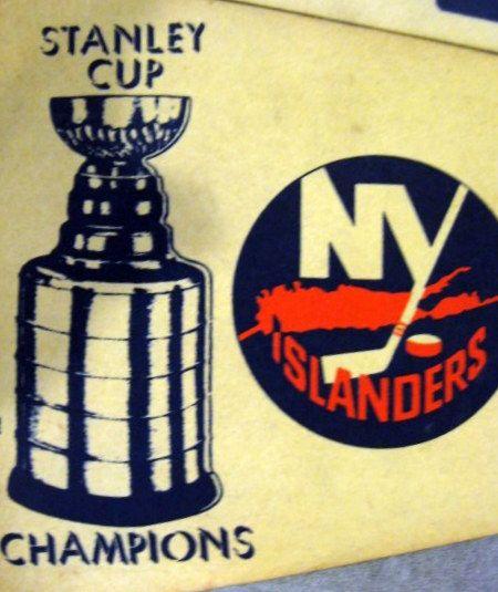 """Lot Detail - VINTAGE NEW YORK ISLANDERS """"STANLEY CUP ..."""