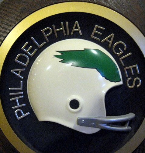 new product 6c056 aff3b Lot Detail - VINTAGE 70's PHILADELPHIA EAGLES HELMET PLAQUE ...