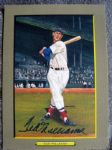 "TED WILLIAMS SIGNED ""PEREZ-STEELE"" GREAT MOMENTS CARD"
