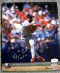 "OZZIE SMITH SIGNED 8"" X 10"" PHOTO w""HOF 02"" INSCRIPTION - JSA"