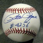 PETE ROSE SIGNED BASEBALL w/INSCRIPTION - JSA