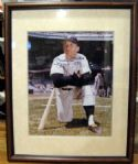 "MICKEY MANTLE SIGNED 16"" X 20"" FRAMED PHOTO w/JSA LOA"