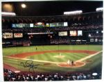 "MARK MCGWIRE ""BREAKS HOME RUN RECORD"" 16"" X 20"" SIGNED PHOTO w/JSA COA"