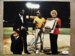 LOU BROCK & RICKY HENDERSON SIGNED PHOTO w/JSA COA
