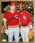 PETE ROSE & OZZIE SMITH SIGNED PHOTO w/JSA COA