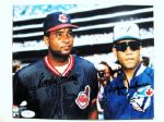 SANDY & ROBERTO ALOMAR SIGNED PHOTO w/JSA COA
