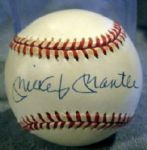 "MICKEY MANTLE SIGNED ""OAL"" BASEBALL w/JSA LOA"