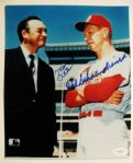 MEL ALLEN AND RED SCHOENDIENST SIGNED PHOTO w/JSA COA