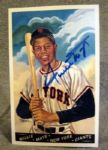 "WILLIE MAYS SIGNED ""PEREZ-STEELE"" POST CARD w/JSA COA"