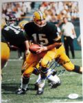 BART STARR SIGNED PHOTO w/INSCRIPTION - JSA COA