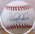 DEREK JETER SIGNED BASEBALL W/MOUNTED MEMORIES