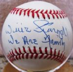 "WILLIE STARGELL ""WE ARE FAMILY"" SIGNED BASEBALL w/PSA COA"
