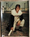 WILLIE MAYS SIGNED COLOR PHOTO w/ SGC COA