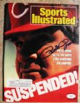 PETE ROSE SIGNED SPORTS ILLUSTRATED W/ JSA COA