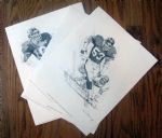 "1981 NEW YORK GIANTS ""SHELL PREMIUM"" PLAYER POSTERS - NICK GALLOWAY ARTWORK"