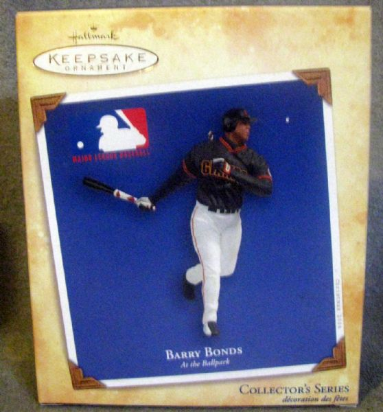 BARRY BONDS HALLMARK COLLECTORS SERIES ORNAMENT