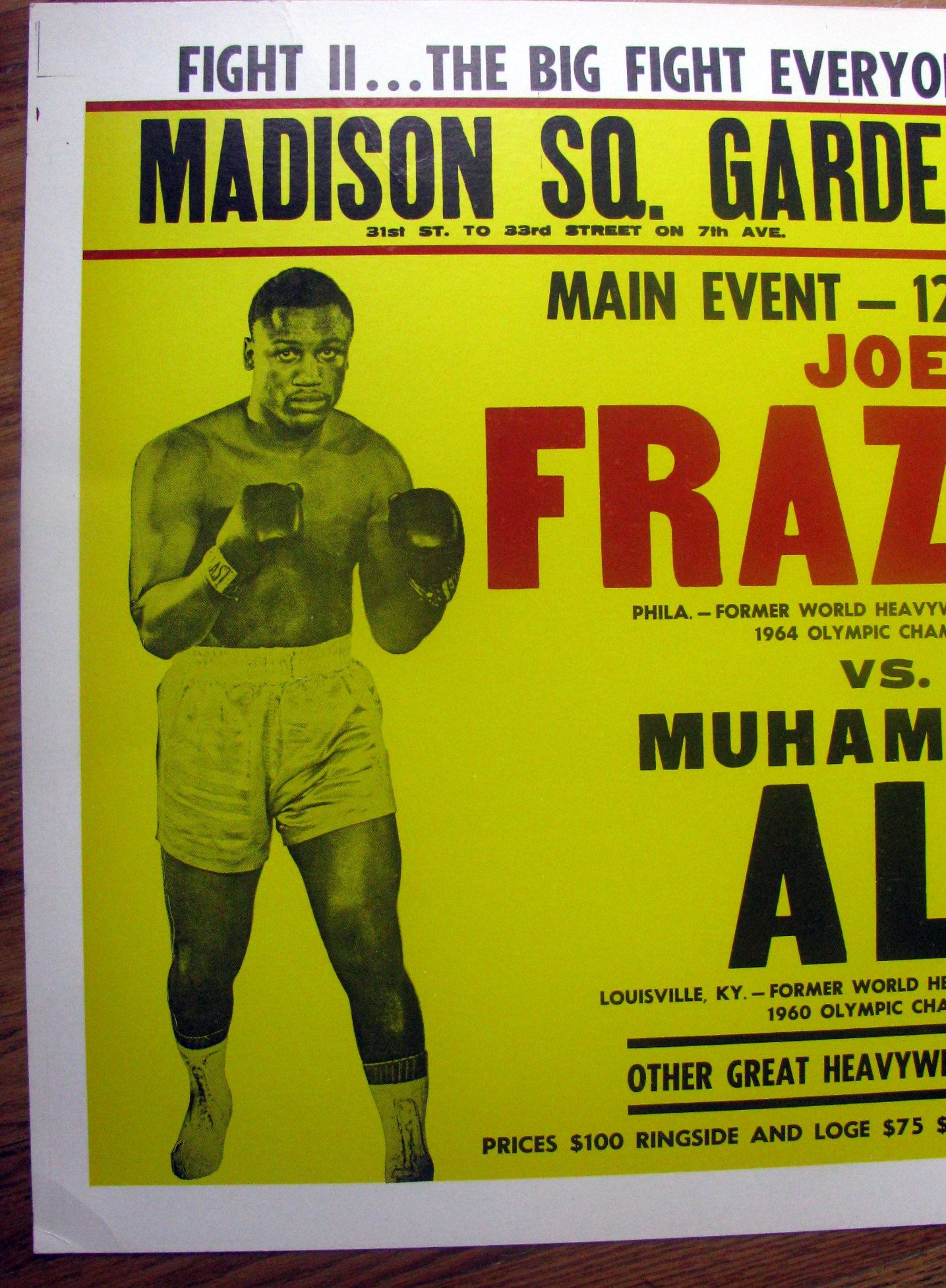 Lot Detail Ali Frazier Ii Quot On Site Quot Fight Poster