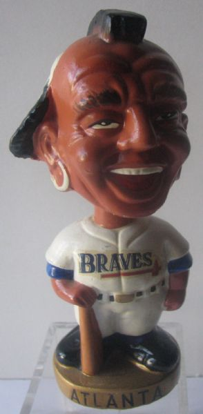 60's ATLANTA BRAVES GOLD BASE BOBBING HEAD