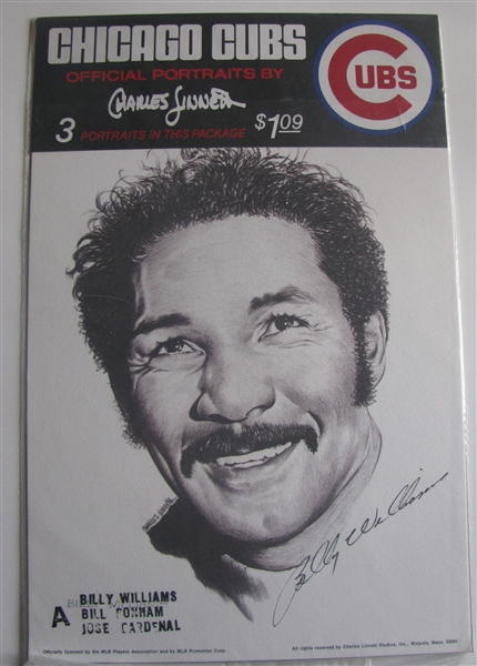 70's CHICAGO CUBS PORTRAITS BY CHARLES LINNETT - SEALED IN PACKAGE