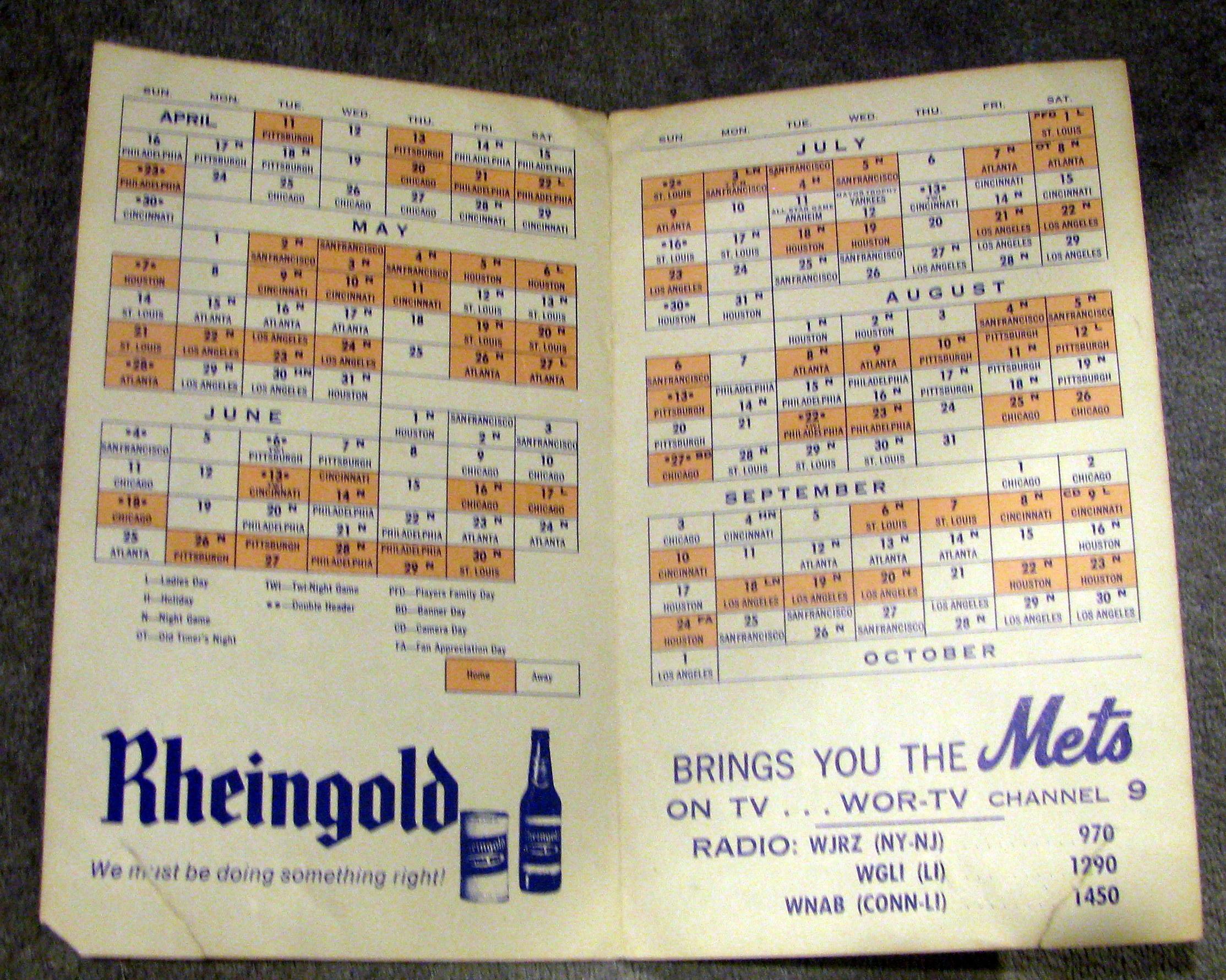 schedule booklet