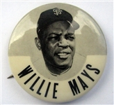 "60s WILLIE MAYS ""PM-10"" PIN - S.F. GIANTS"